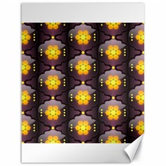 Pattern Background Yellow Bright Canvas 18  x 24