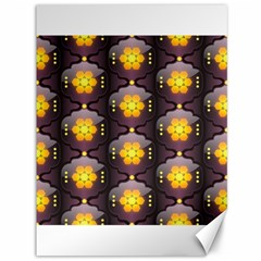 Pattern Background Yellow Bright Canvas 36  x 48