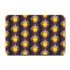 Pattern Background Yellow Bright Small Doormat