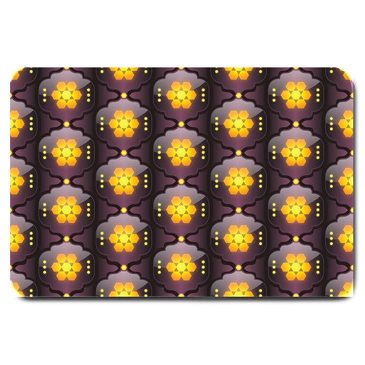 Pattern Background Yellow Bright Large Doormat