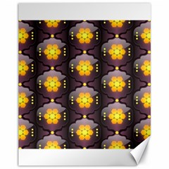 Pattern Background Yellow Bright Canvas 11  x 14