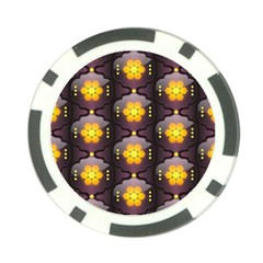 Pattern Background Yellow Bright Poker Chip Card Guard
