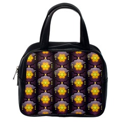 Pattern Background Yellow Bright Classic Handbags (One Side)