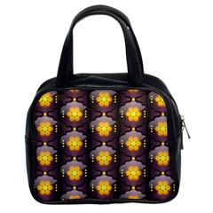 Pattern Background Yellow Bright Classic Handbags (2 Sides)