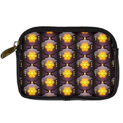 Pattern Background Yellow Bright Digital Camera Cases