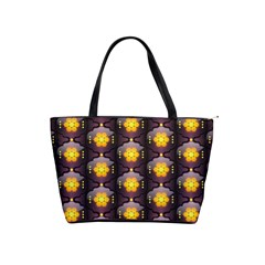 Pattern Background Yellow Bright Shoulder Handbags