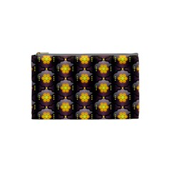 Pattern Background Yellow Bright Cosmetic Bag (Small)