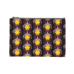 Pattern Background Yellow Bright Cosmetic Bag (Large)