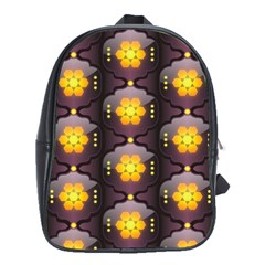 Pattern Background Yellow Bright School Bag (Large)