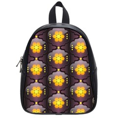 Pattern Background Yellow Bright School Bag (Small)