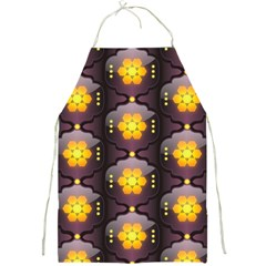 Pattern Background Yellow Bright Full Print Aprons