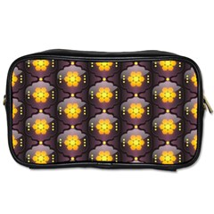 Pattern Background Yellow Bright Toiletries Bags