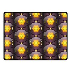 Pattern Background Yellow Bright Fleece Blanket (small) by Sapixe