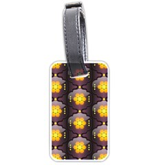 Pattern Background Yellow Bright Luggage Tags (Two Sides)