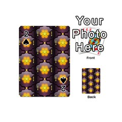 Pattern Background Yellow Bright Playing Cards 54 (Mini)