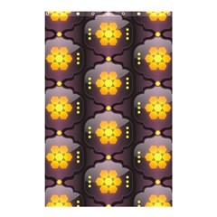 Pattern Background Yellow Bright Shower Curtain 48  x 72  (Small)