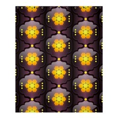 Pattern Background Yellow Bright Shower Curtain 60  X 72  (medium)  by Sapixe