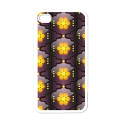 Pattern Background Yellow Bright Apple iPhone 4 Case (White)
