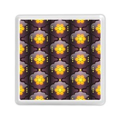 Pattern Background Yellow Bright Memory Card Reader (Square)