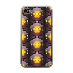 Pattern Background Yellow Bright Apple iPhone 4 Case (Clear)