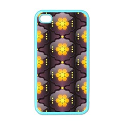 Pattern Background Yellow Bright Apple iPhone 4 Case (Color)