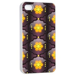 Pattern Background Yellow Bright Apple iPhone 4/4s Seamless Case (White)