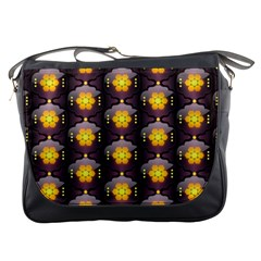 Pattern Background Yellow Bright Messenger Bags