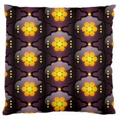 Pattern Background Yellow Bright Large Cushion Case (Two Sides)