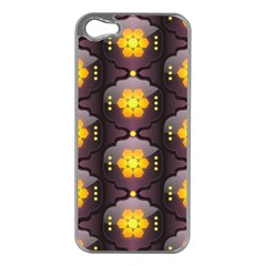 Pattern Background Yellow Bright Apple iPhone 5 Case (Silver)