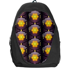 Pattern Background Yellow Bright Backpack Bag