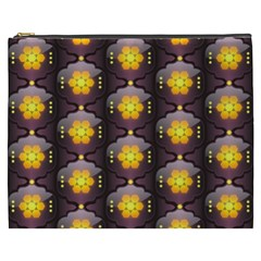 Pattern Background Yellow Bright Cosmetic Bag (XXXL)