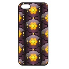 Pattern Background Yellow Bright Apple iPhone 5 Seamless Case (Black)