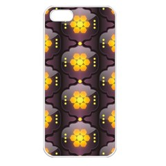 Pattern Background Yellow Bright Apple iPhone 5 Seamless Case (White)