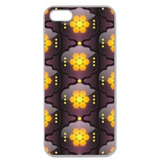 Pattern Background Yellow Bright Apple Seamless iPhone 5 Case (Clear)
