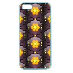 Pattern Background Yellow Bright Apple Seamless iPhone 5 Case (Color)
