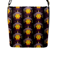 Pattern Background Yellow Bright Flap Messenger Bag (L)