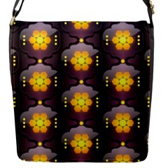 Pattern Background Yellow Bright Flap Messenger Bag (S)