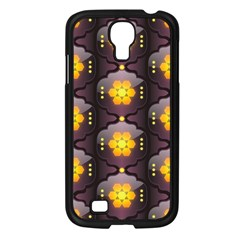 Pattern Background Yellow Bright Samsung Galaxy S4 I9500/ I9505 Case (Black)
