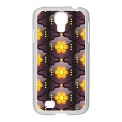 Pattern Background Yellow Bright Samsung GALAXY S4 I9500/ I9505 Case (White)