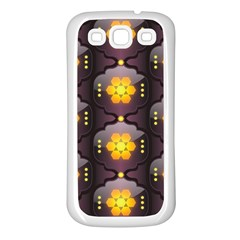 Pattern Background Yellow Bright Samsung Galaxy S3 Back Case (White)