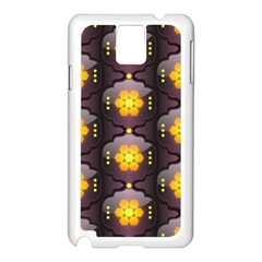 Pattern Background Yellow Bright Samsung Galaxy Note 3 N9005 Case (White)