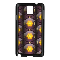 Pattern Background Yellow Bright Samsung Galaxy Note 3 N9005 Case (Black)