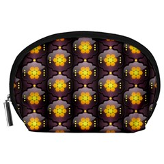 Pattern Background Yellow Bright Accessory Pouches (Large)