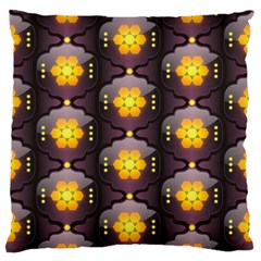 Pattern Background Yellow Bright Large Flano Cushion Case (One Side)