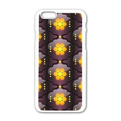 Pattern Background Yellow Bright Apple iPhone 6/6S White Enamel Case