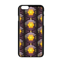 Pattern Background Yellow Bright Apple iPhone 6/6S Black Enamel Case
