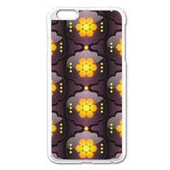 Pattern Background Yellow Bright Apple iPhone 6 Plus/6S Plus Enamel White Case