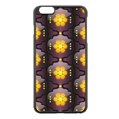Pattern Background Yellow Bright Apple iPhone 6 Plus/6S Plus Black Enamel Case