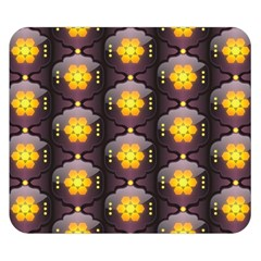 Pattern Background Yellow Bright Double Sided Flano Blanket (Small)
