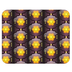Pattern Background Yellow Bright Double Sided Flano Blanket (Medium)